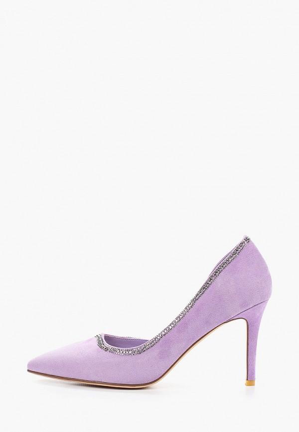 женские туфли-лодочки grand style, фиолетовые