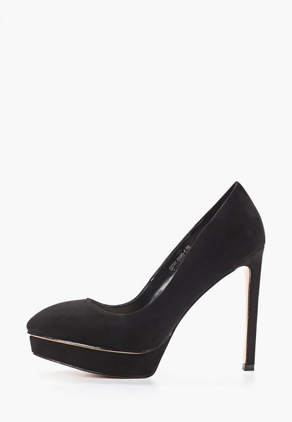 женские туфли с закрытым носом grand style, черные