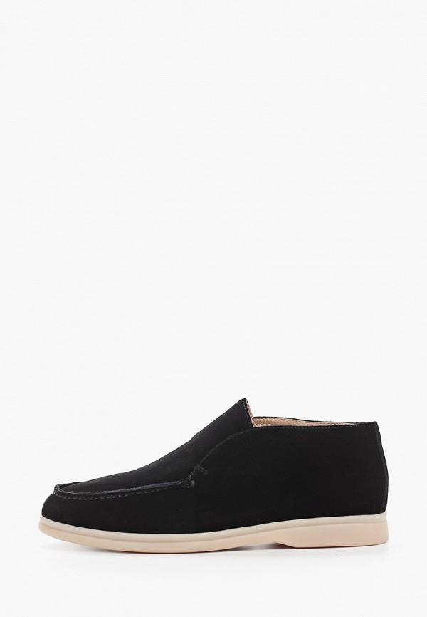 женские низкие ботинки grand style, черные