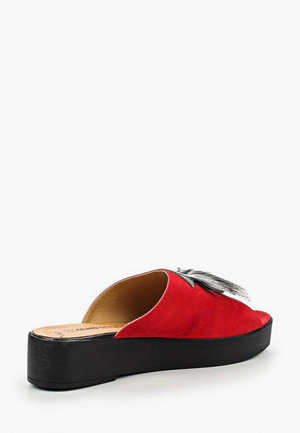 Фото 2 - женские сабо Grand Style красного цвета