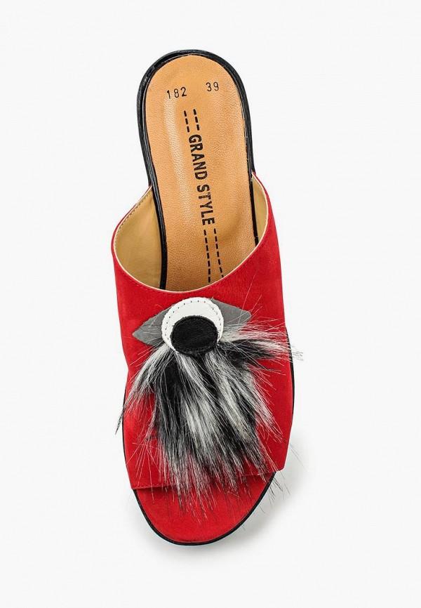 Фото 4 - женские сабо Grand Style красного цвета