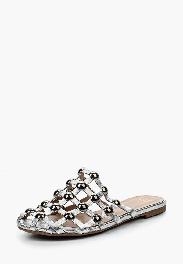 женское сабо grand style, серебряное