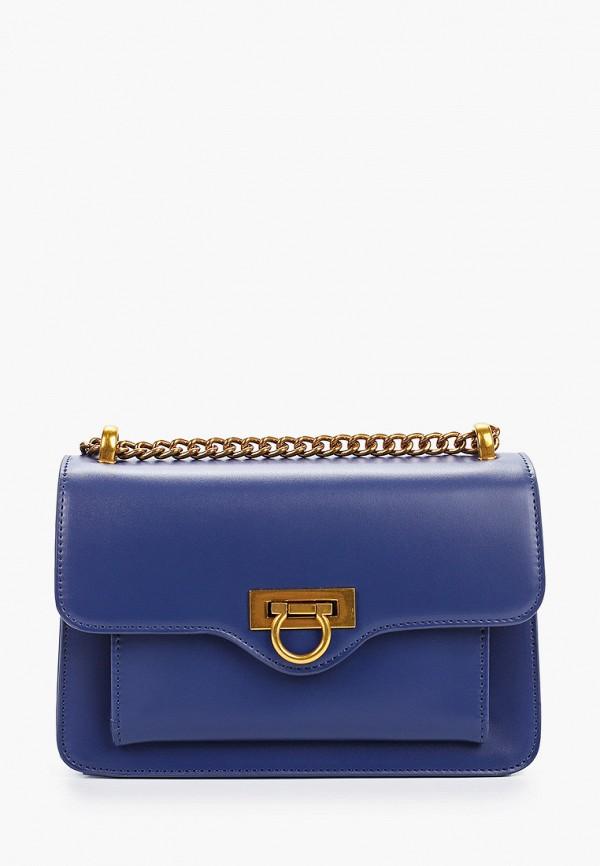 женская сумка через плечо grand style, синяя