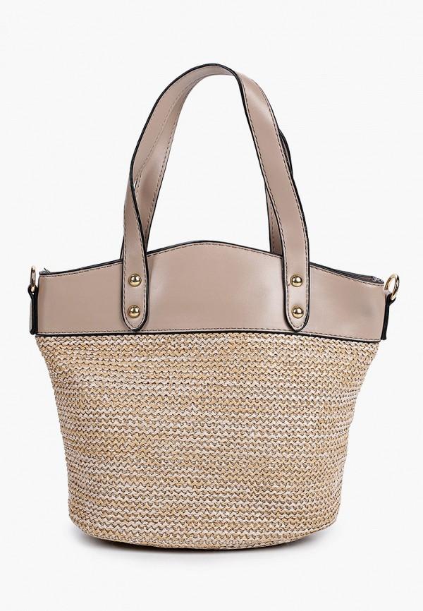 женская сумка с ручками grand style, бежевая