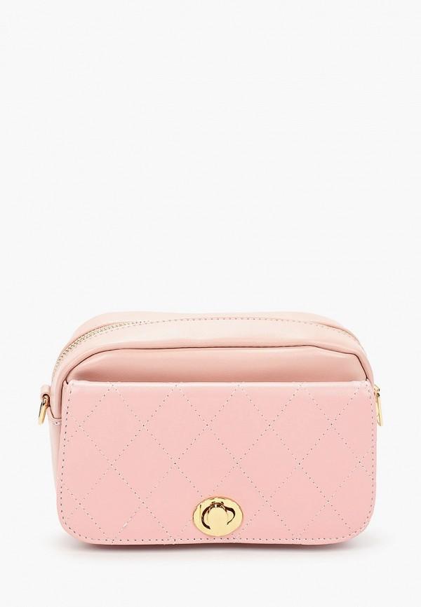 женская сумка через плечо grand style, розовая