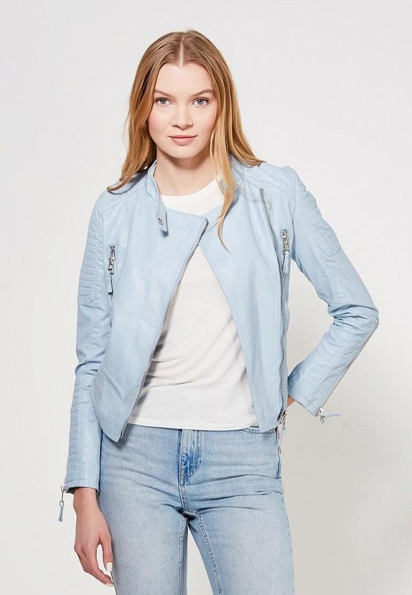 Купить Куртка кожаная Grand Style, gr025ewagel5, голубой, Весна-лето 2018