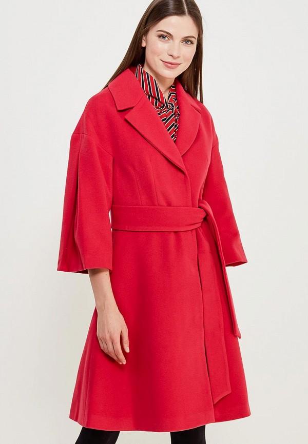 женское пальто grand style, розовое