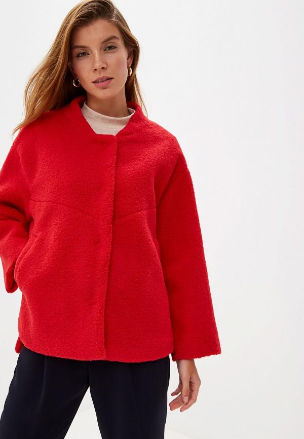 женская шуба grand style, красная