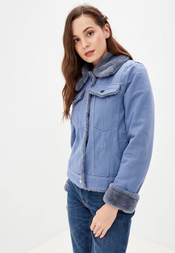 женская куртка grand style, голубая