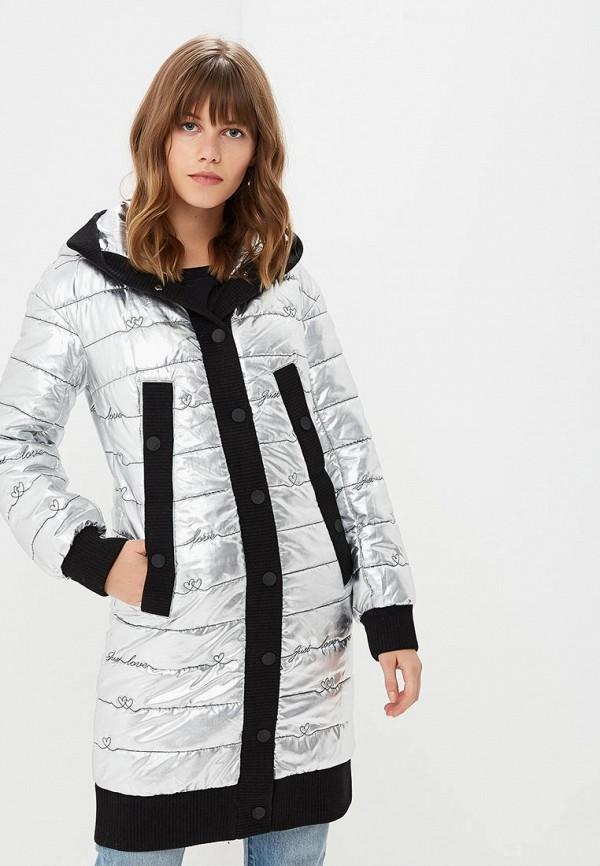 женская утепленные куртка grand style, серебряная