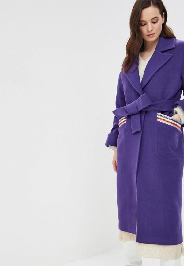 женское пальто grand style, фиолетовое