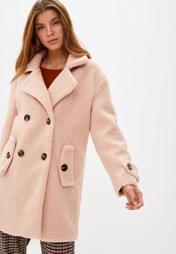 женская шуба grand style, розовая