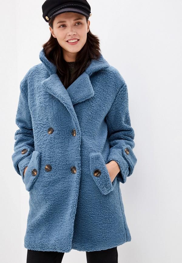 женская шуба grand style, синяя