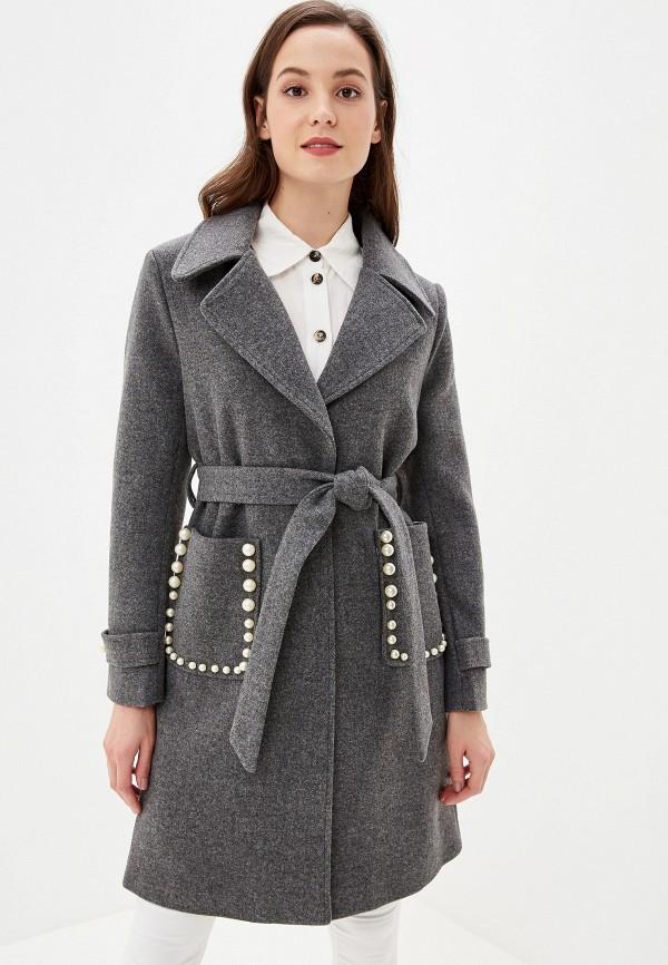 женское пальто grand style, серое