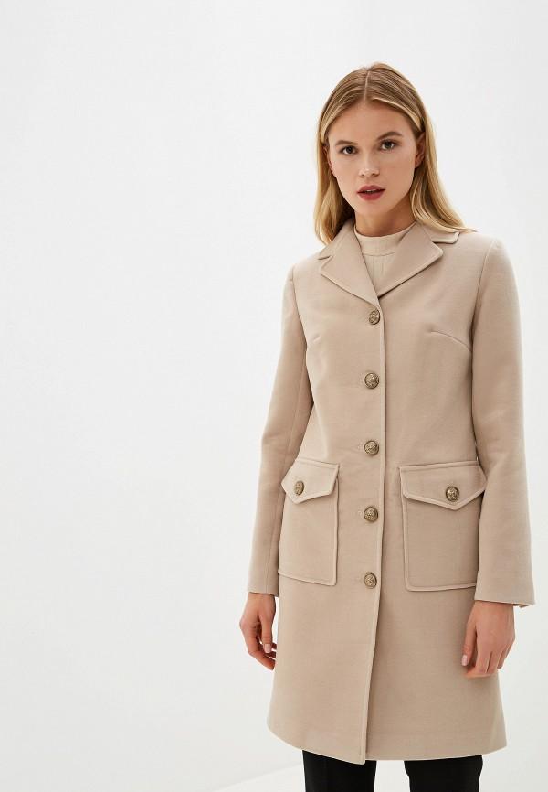 женское пальто grand style, бежевое