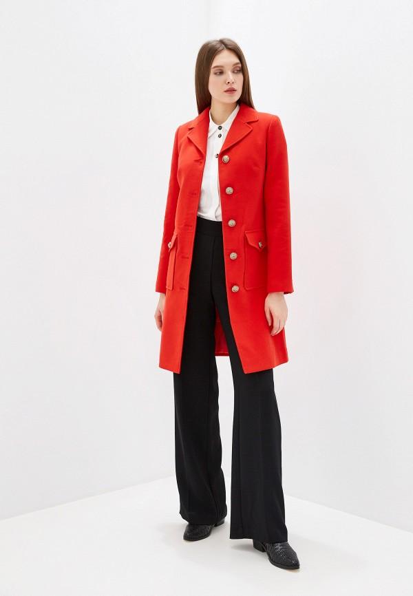женское пальто grand style, красное