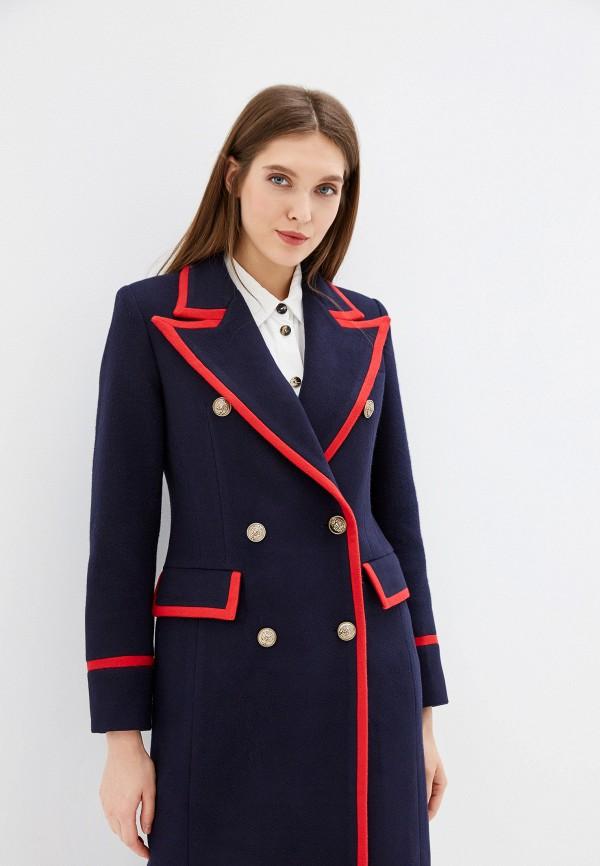 Фото 2 - Женское пальто или плащ Grand Style синего цвета