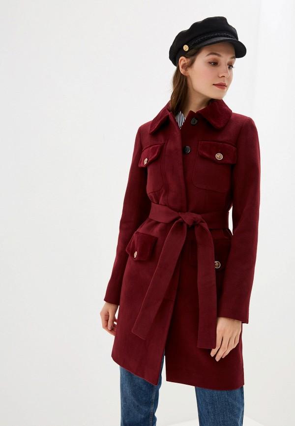 женское пальто grand style, бордовое
