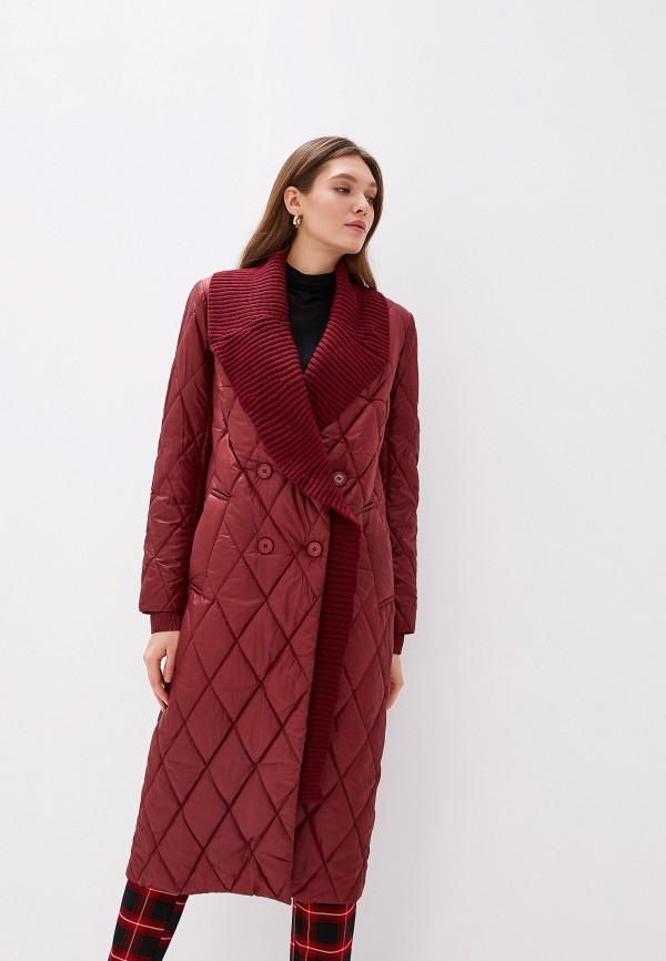 женская куртка grand style, бордовая