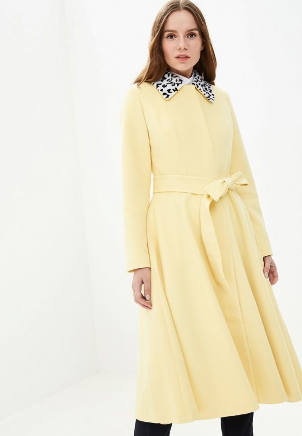 женское пальто grand style, желтое
