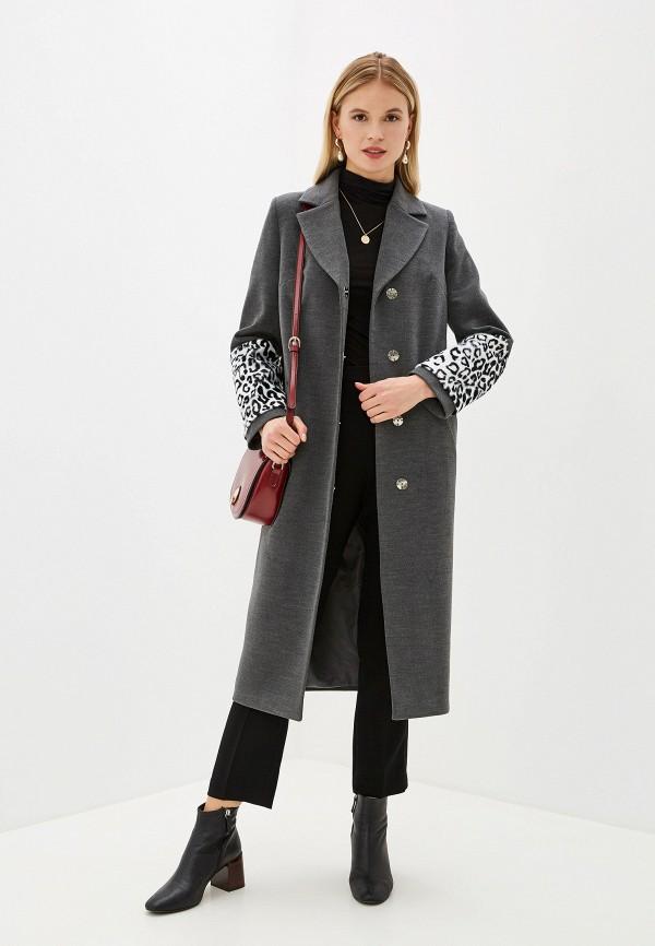Фото 2 - Женское пальто или плащ Grand Style серого цвета