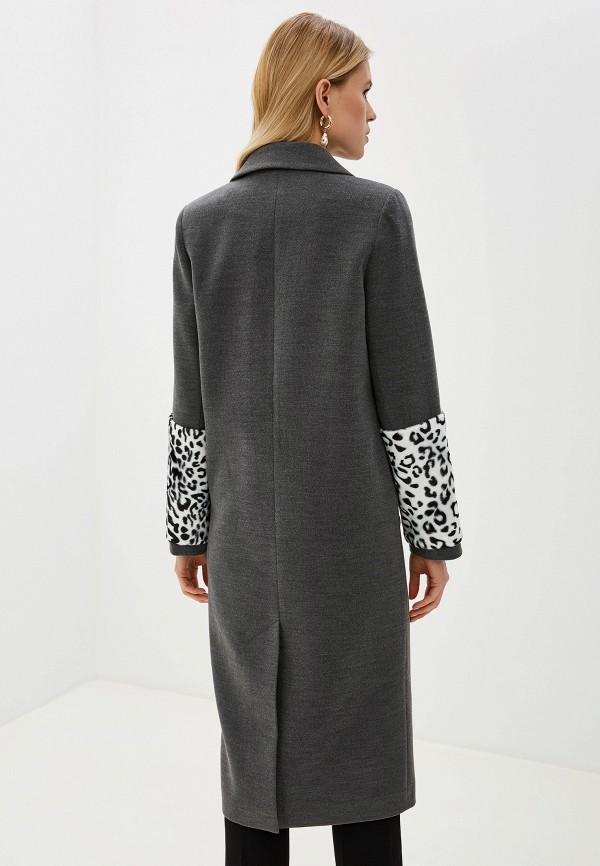 Фото 3 - Женское пальто или плащ Grand Style серого цвета