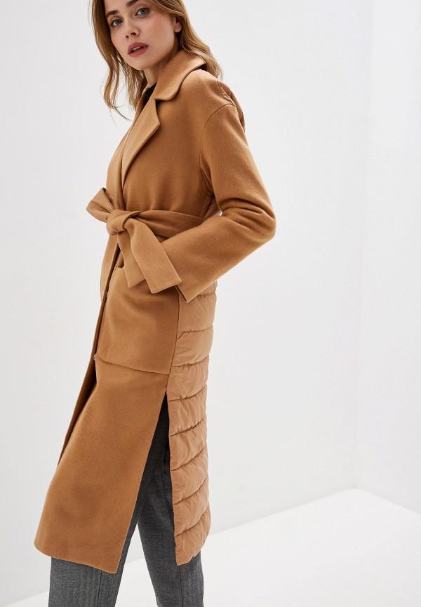 женское пальто grand style, коричневое