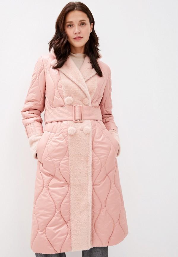 женская куртка grand style, розовая