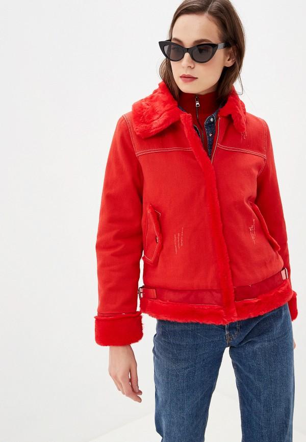 женская куртка grand style, красная