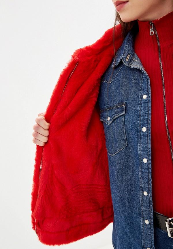 Фото 4 - Женскую куртку Grand Style красного цвета