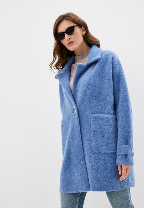 женская шуба grand style, голубая