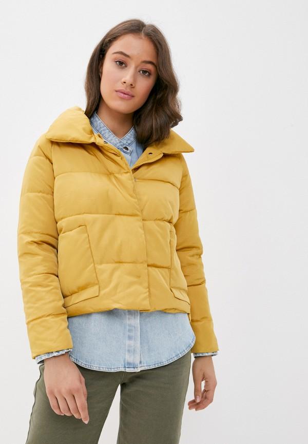 женская куртка grand style, желтая