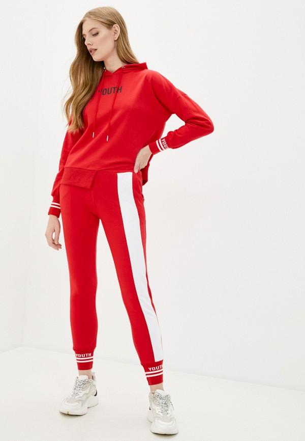 женский спортивный костюм grand style, красный