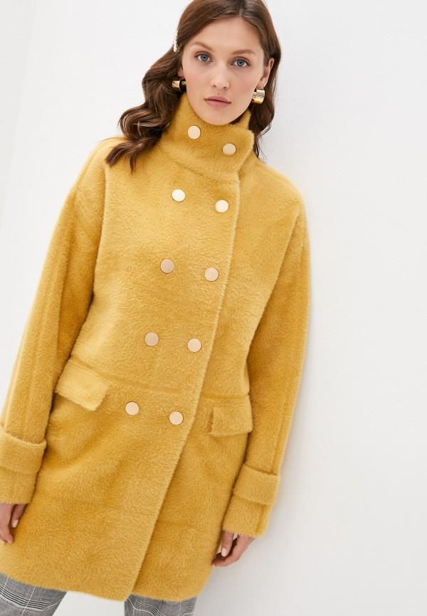 женская шуба grand style, желтая