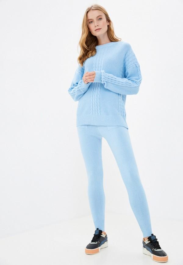 женский костюм grand style, голубой