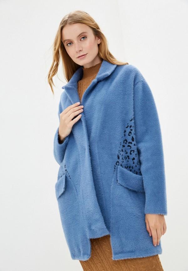 женское пальто grand style, синее