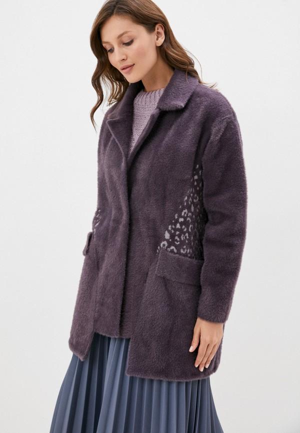женская шуба grand style, фиолетовая