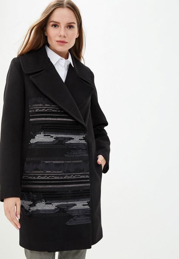 женское пальто grand style, черное
