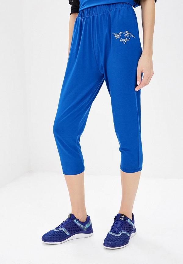 женские спортивные бриджи grishko, синие