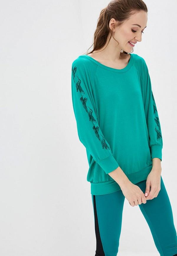 женский лонгслив grishko, зеленый