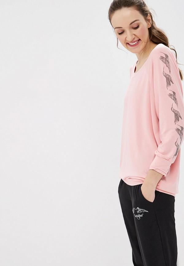 женский лонгслив grishko, розовый