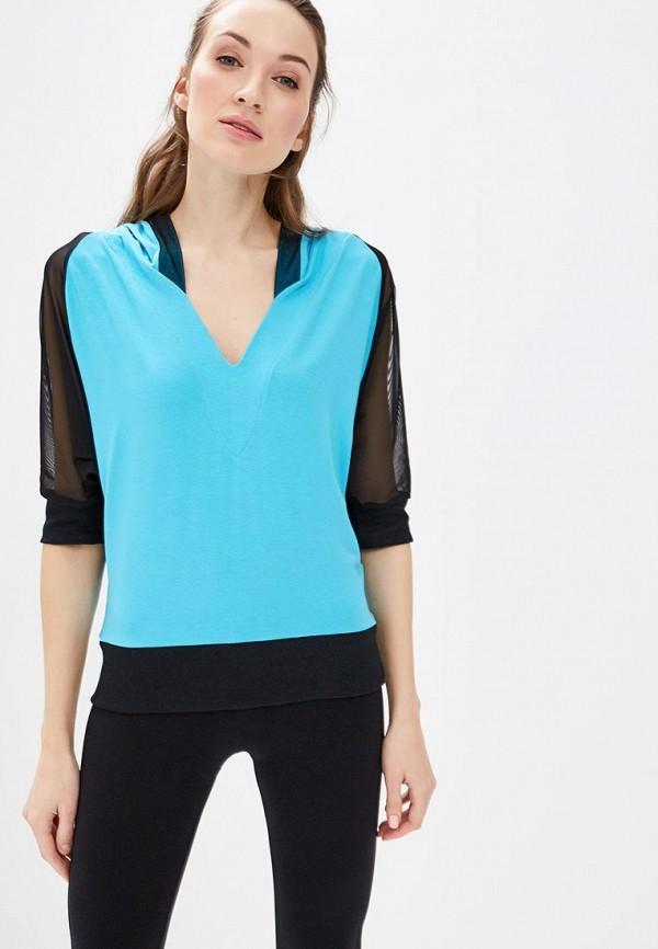 женская футболка grishko, голубая