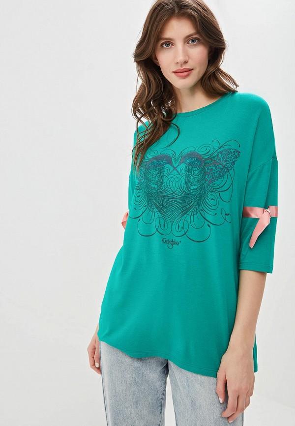 женская спортивные футболка grishko, зеленая