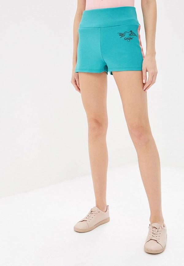 женские спортивные спортивные шорты grishko, бирюзовые