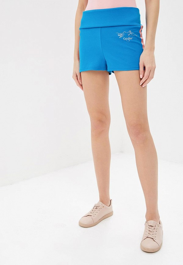 женские спортивные спортивные шорты grishko, голубые