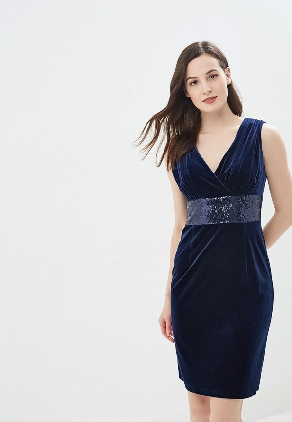женское вечерние платье gregory, синее