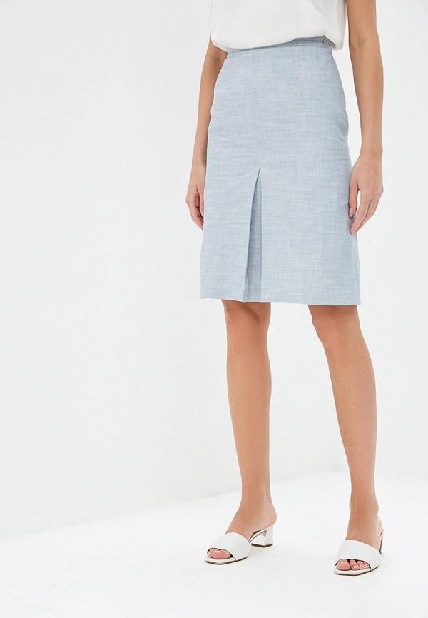 женская прямые юбка gregory, голубая
