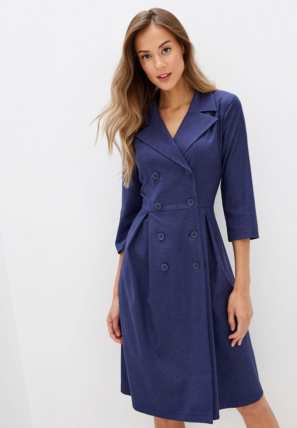 женское платье gregory, синее