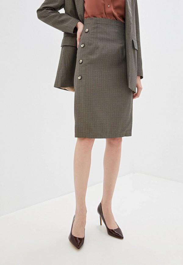 женская зауженные юбка gregory, коричневая