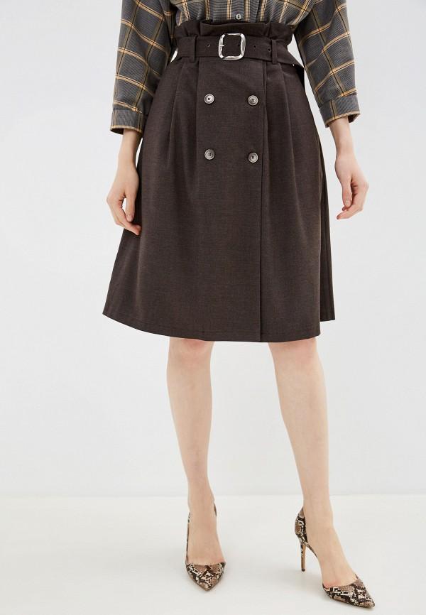 женская юбка gregory, коричневая